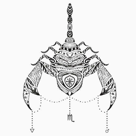 Scorpio Zodiac Horoscope Constellation Sign Symbol Tattoo (155)