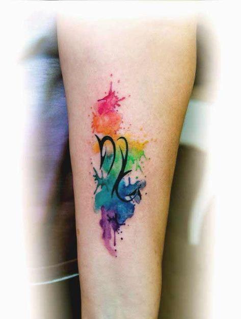 Scorpio Zodiac Horoscope Constellation Sign Symbol Tattoo (165)