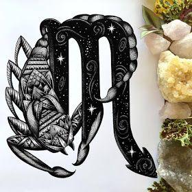 Scorpio Zodiac Horoscope Constellation Sign Symbol Tattoo (21)