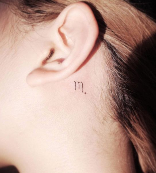 Scorpio Zodiac Horoscope Constellation Sign Symbol Tattoo (213)