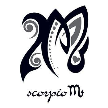 Scorpio Zodiac Horoscope Constellation Sign Symbol Tattoo (223)