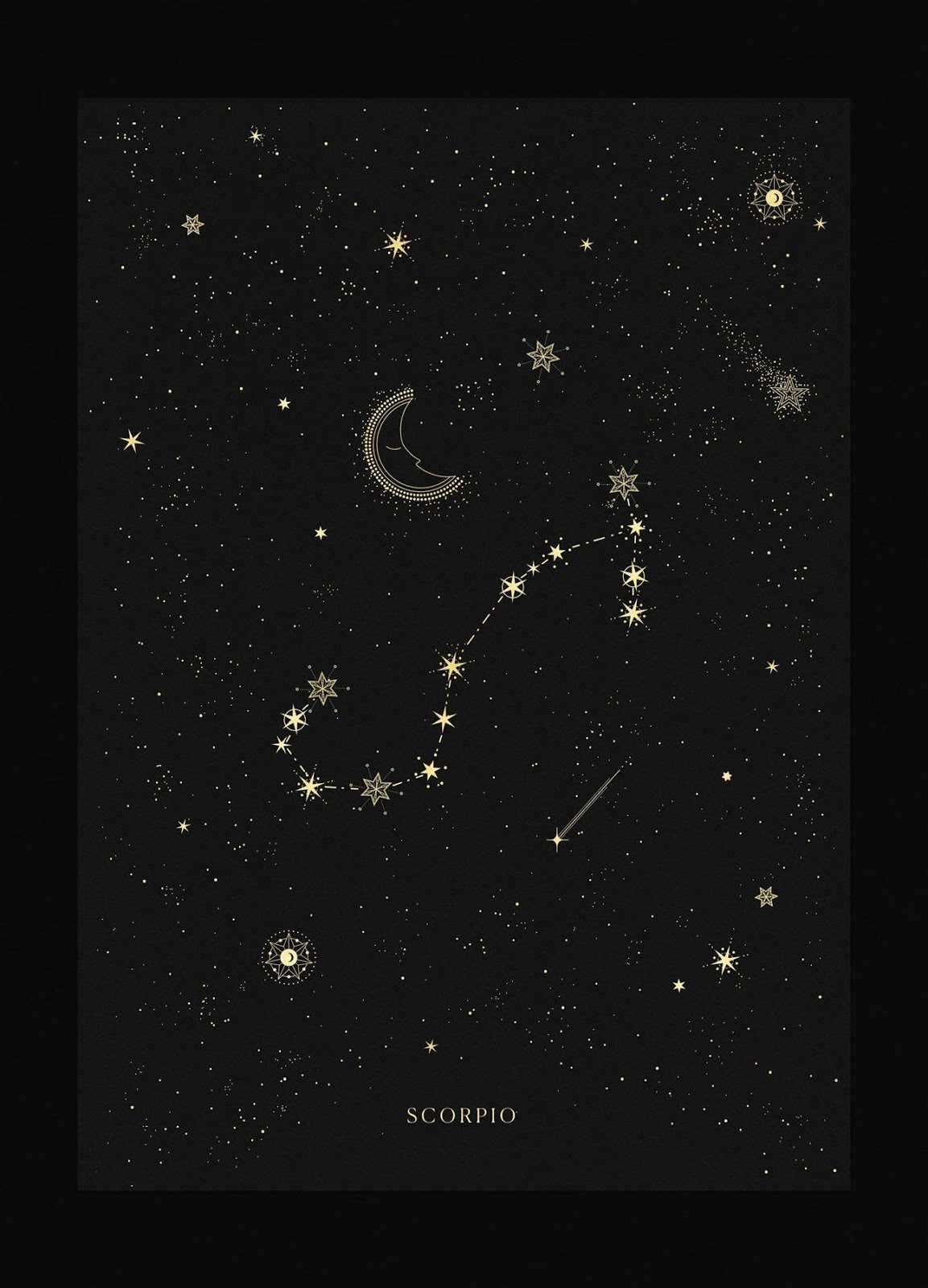 Scorpio Zodiac Horoscope Constellation Sign Symbol Tattoo (228)
