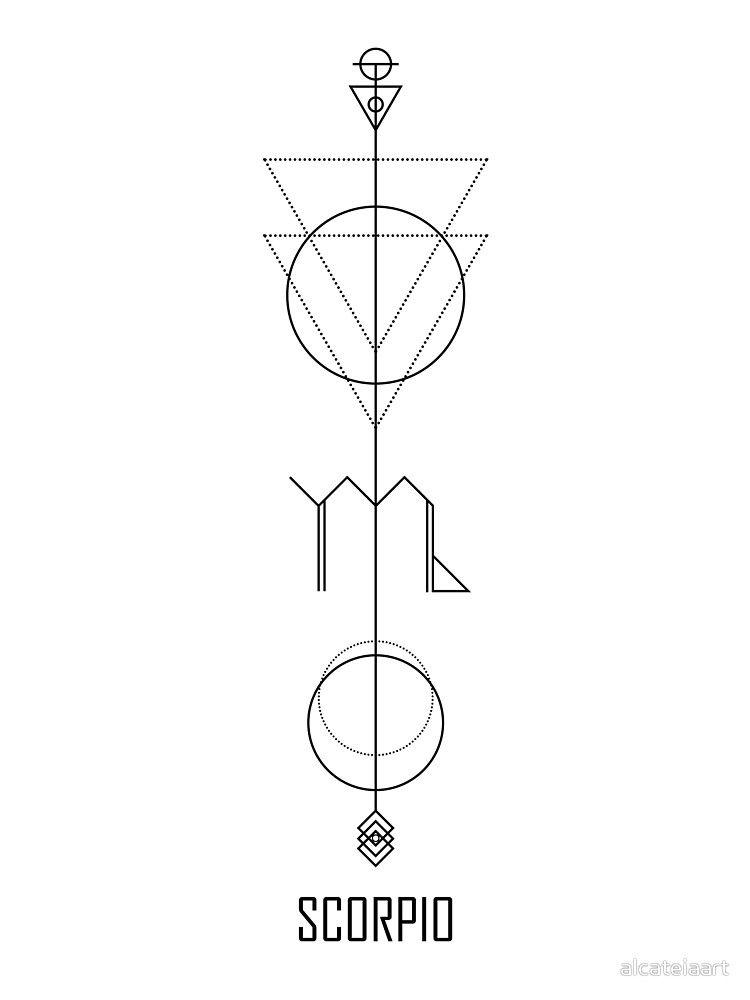 Scorpio Zodiac Horoscope Constellation Sign Symbol Tattoo (26)