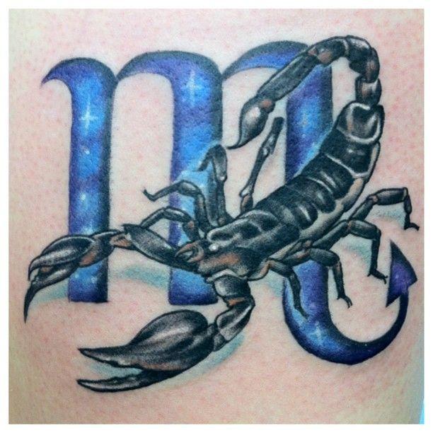 Scorpio Zodiac Horoscope Constellation Sign Symbol Tattoo (27)