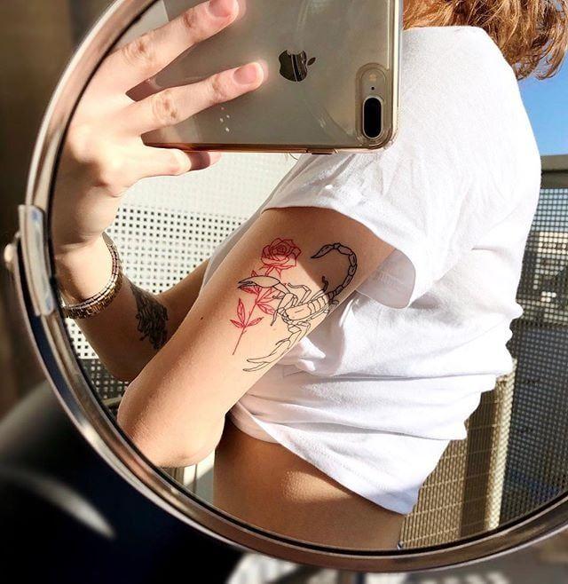 Scorpio Zodiac Horoscope Constellation Sign Symbol Tattoo (39)