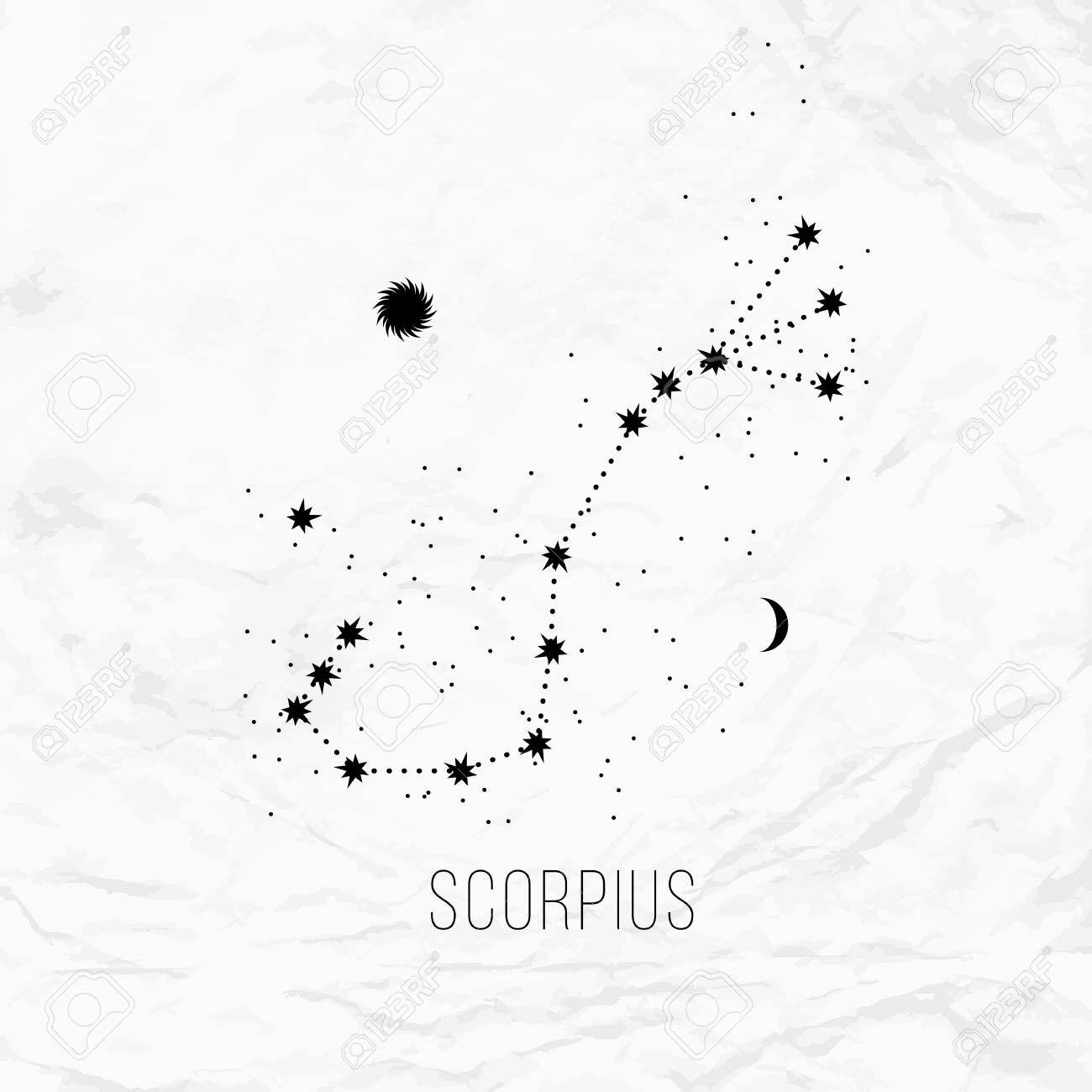 Scorpio Zodiac Horoscope Constellation Sign Symbol Tattoo (41)