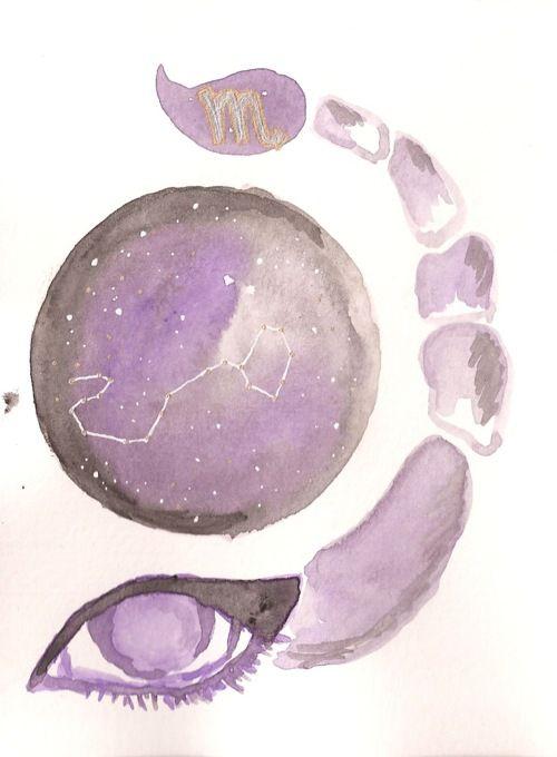 Scorpio Zodiac Horoscope Constellation Sign Symbol Tattoo (53)