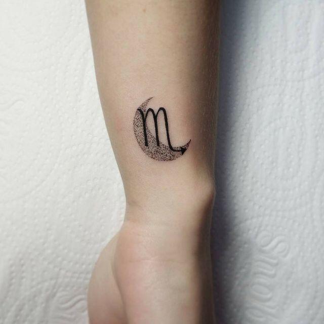 Scorpio Zodiac Horoscope Constellation Sign Symbol Tattoo (67)