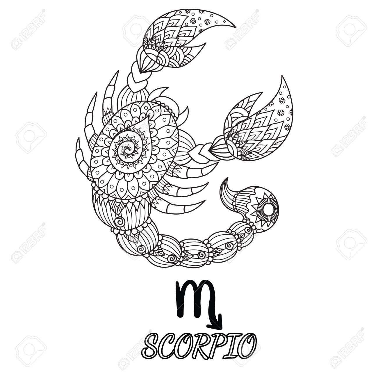 Scorpio Zodiac Horoscope Constellation Sign Symbol Tattoo (74)
