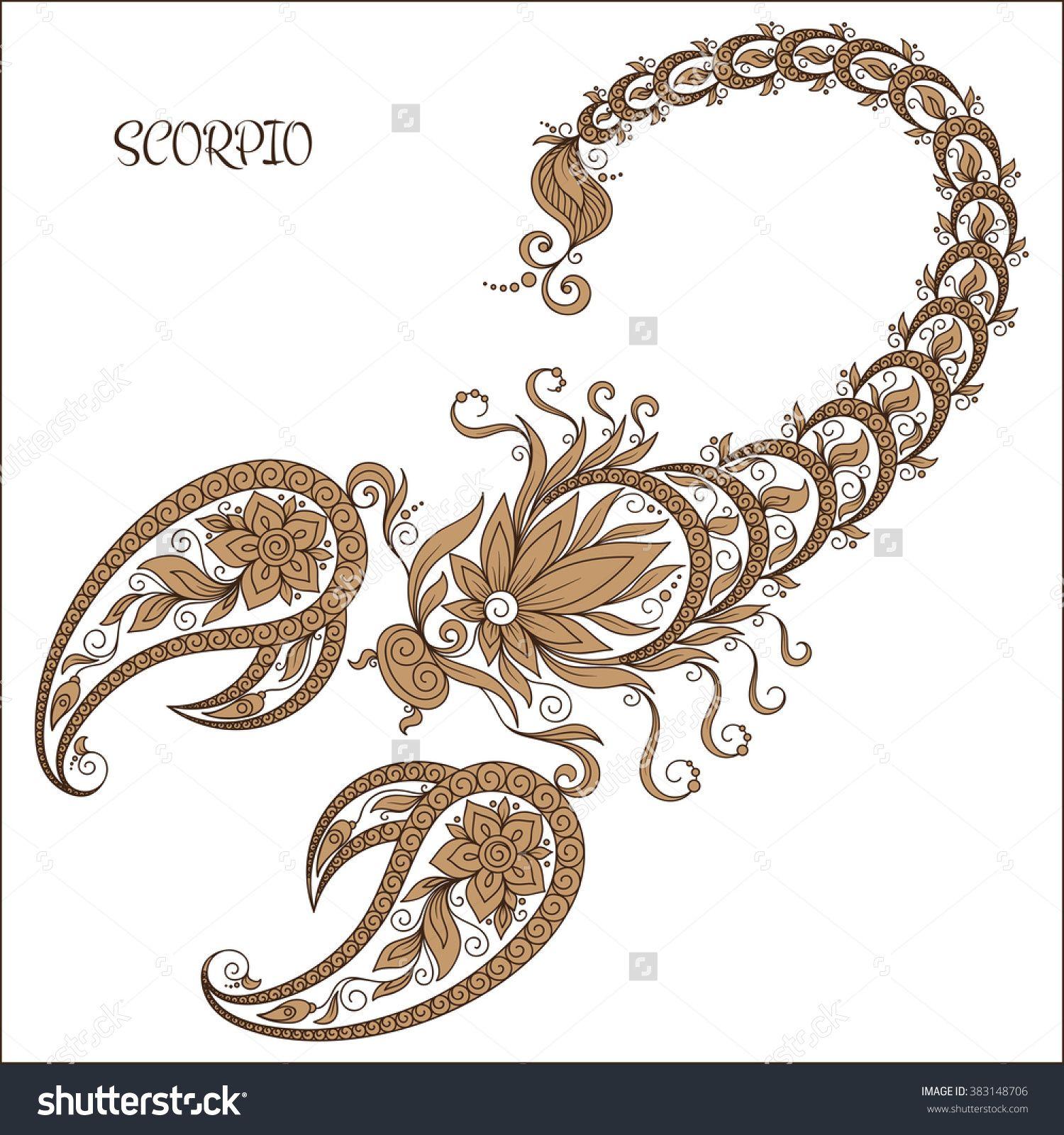 Scorpio Zodiac Horoscope Constellation Sign Symbol Tattoo (75)