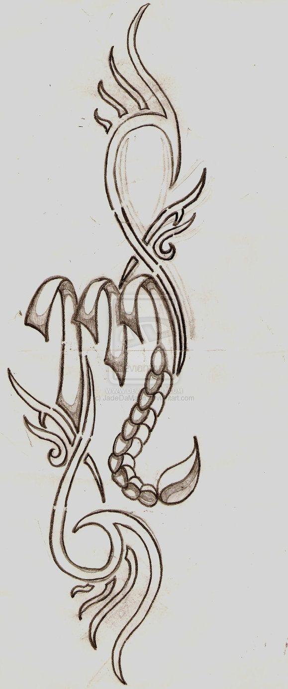 Scorpio Zodiac Horoscope Constellation Sign Symbol Tattoo (81)