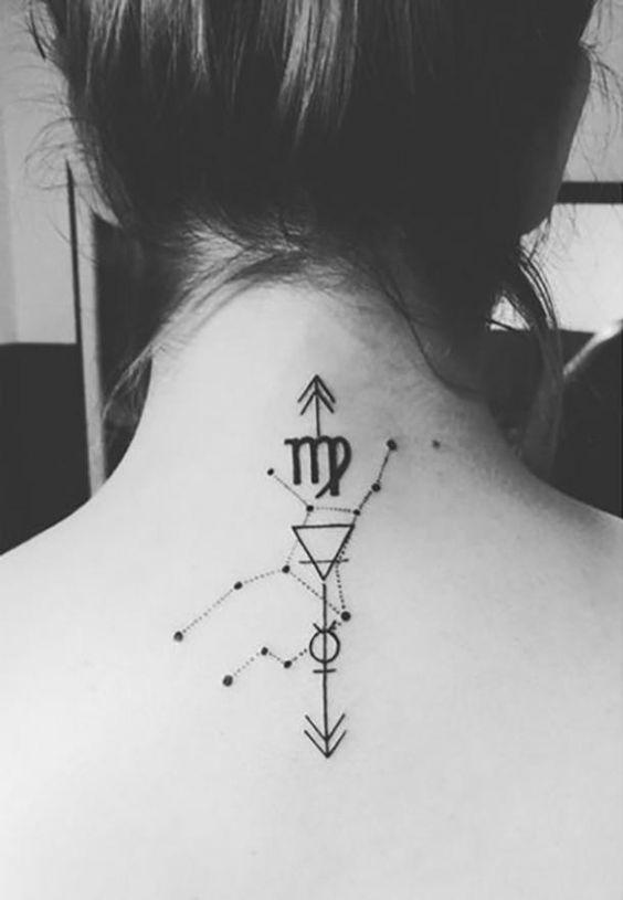 Scorpio Zodiac Horoscope Constellation Sign Symbol Tattoo (94)