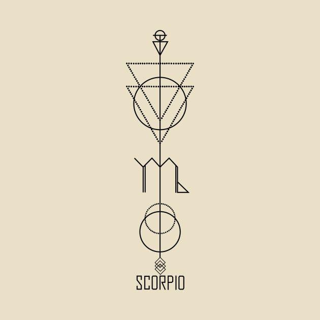 Scorpio Zodiac Horoscope Constellation Sign Symbol Tattoo (99)
