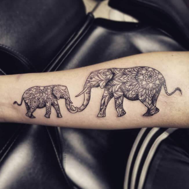 Elephant Forearm Tattoos