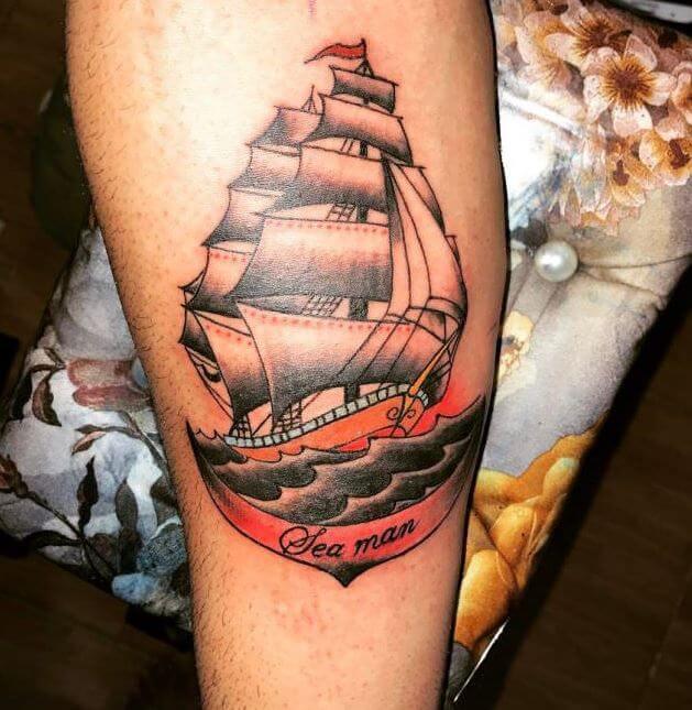 Forearm Ship Tattoos