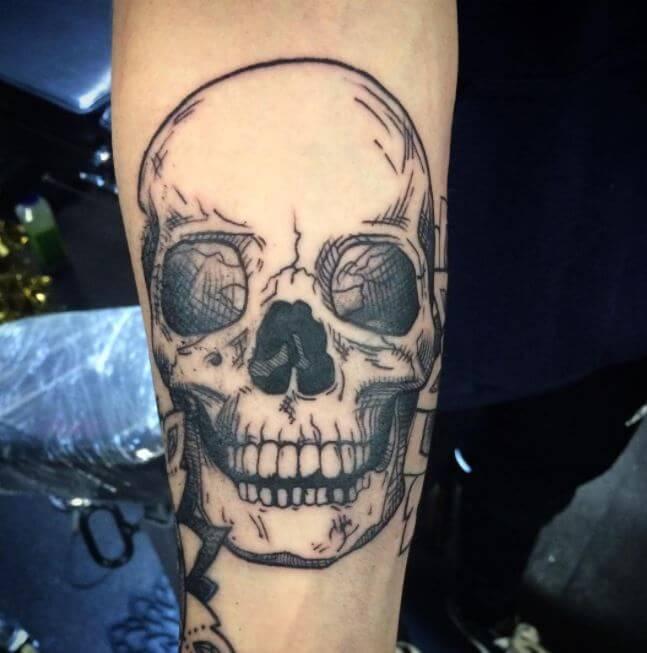 Forearm Skull Tattoos