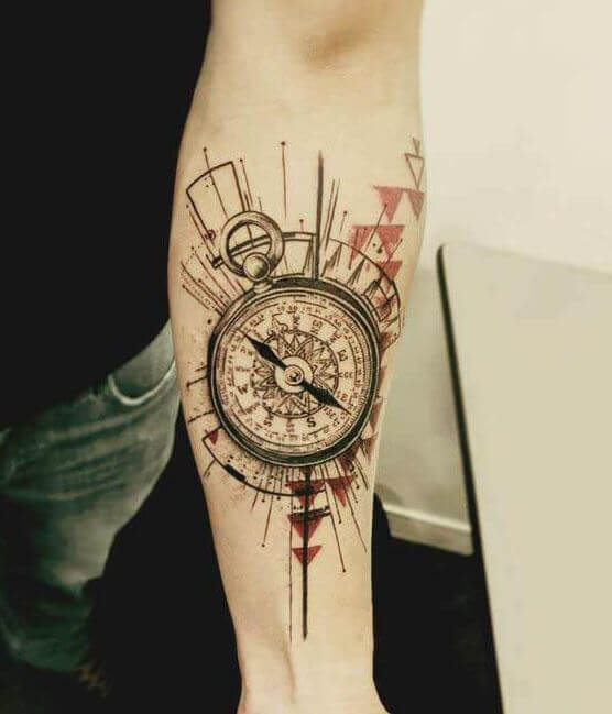 Compass Tattoo Forearm