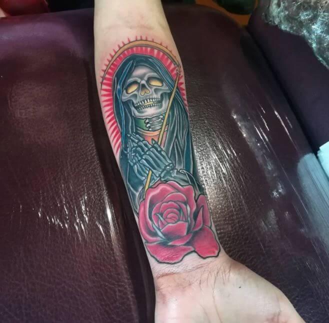 Grim Reaper Tattoo Forearm