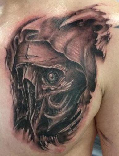 Half Angel Half Devil Tattoo Designs (10)