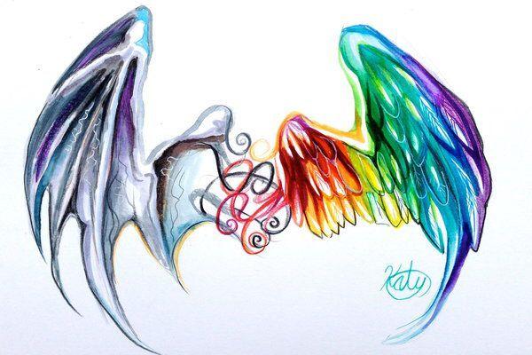 Half Angel Half Devil Tattoo Designs (106)
