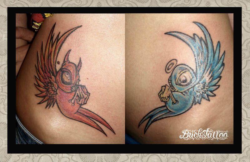 Half Angel Half Devil Tattoo Designs (107)