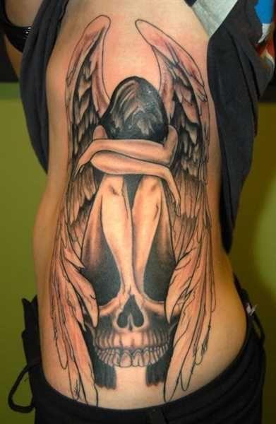 Half Angel Half Devil Tattoo Designs (110)