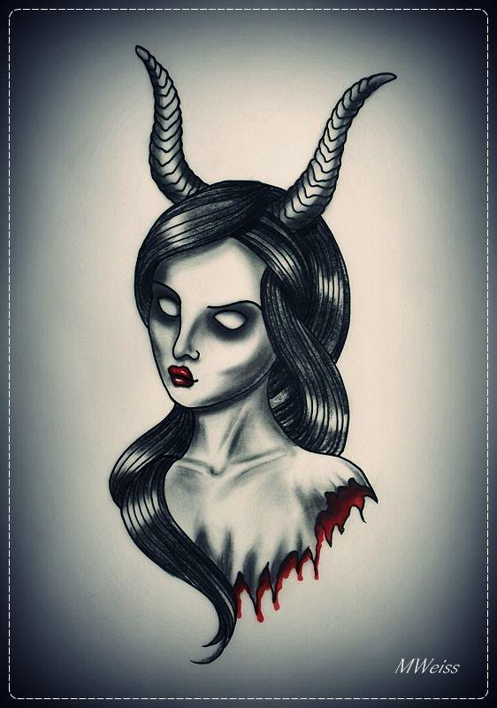 Half Angel Half Devil Tattoo Designs (114)