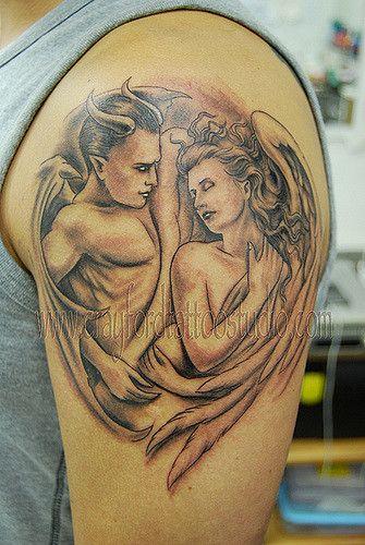 Half Angel Half Devil Tattoo Designs (119)