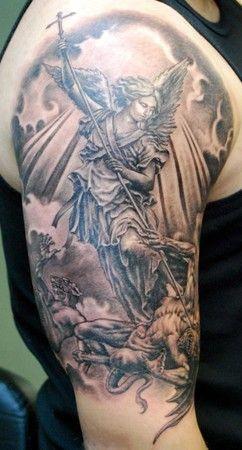 Half Angel Half Devil Tattoo Designs (12)