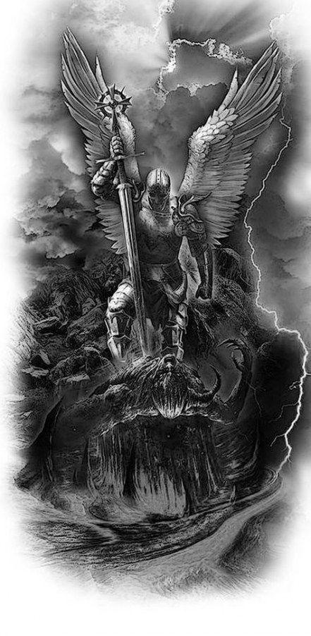 Half Angel Half Devil Tattoo Designs (121)