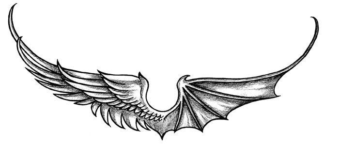 Half Angel Half Devil Tattoo Designs (123)