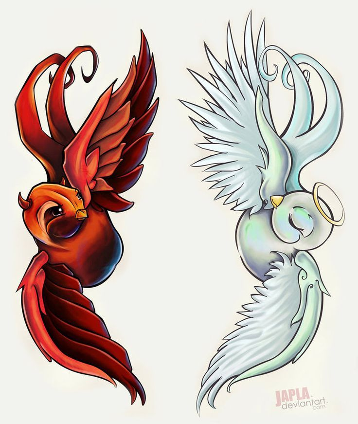 Half Angel Half Devil Tattoo Designs (129)