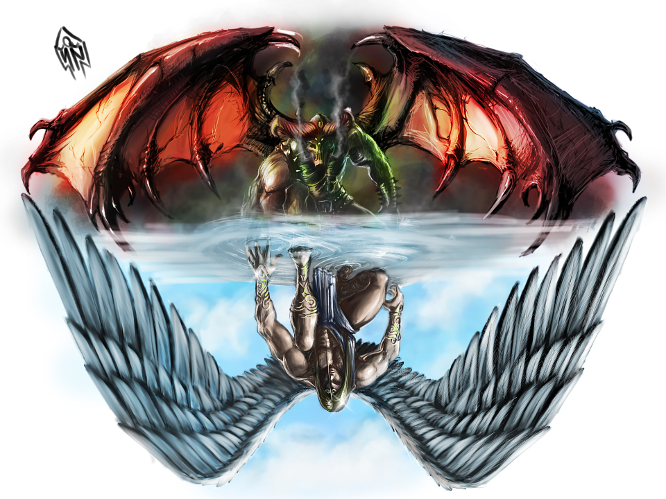 Half Angel Half Devil Tattoo Designs (13)