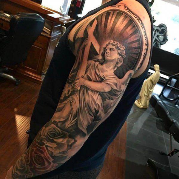 Half Angel Half Devil Tattoo Designs (131)
