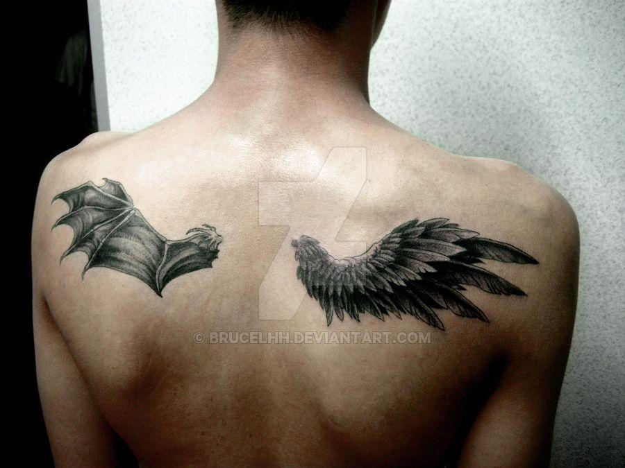 Half Angel Half Devil Tattoo Designs (137)