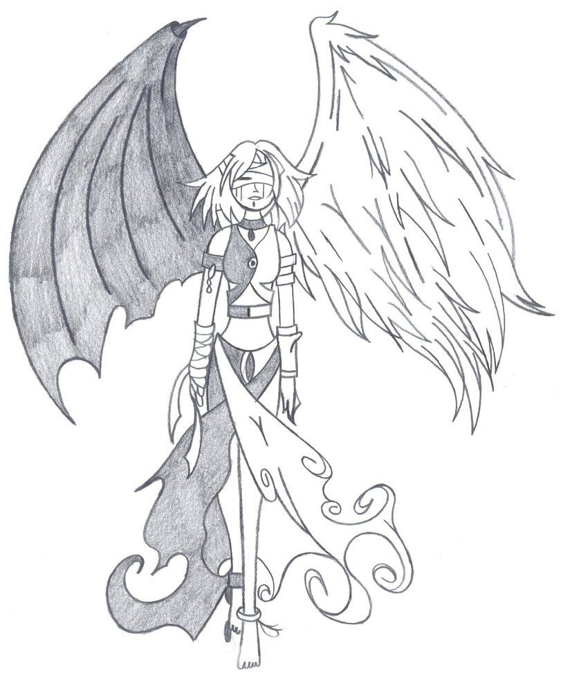 Half Angel Half Devil Tattoo Designs (140)
