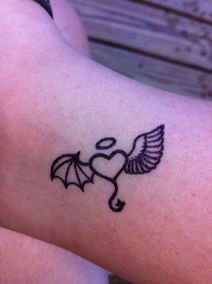 Half Angel Half Devil Tattoo Designs (144)