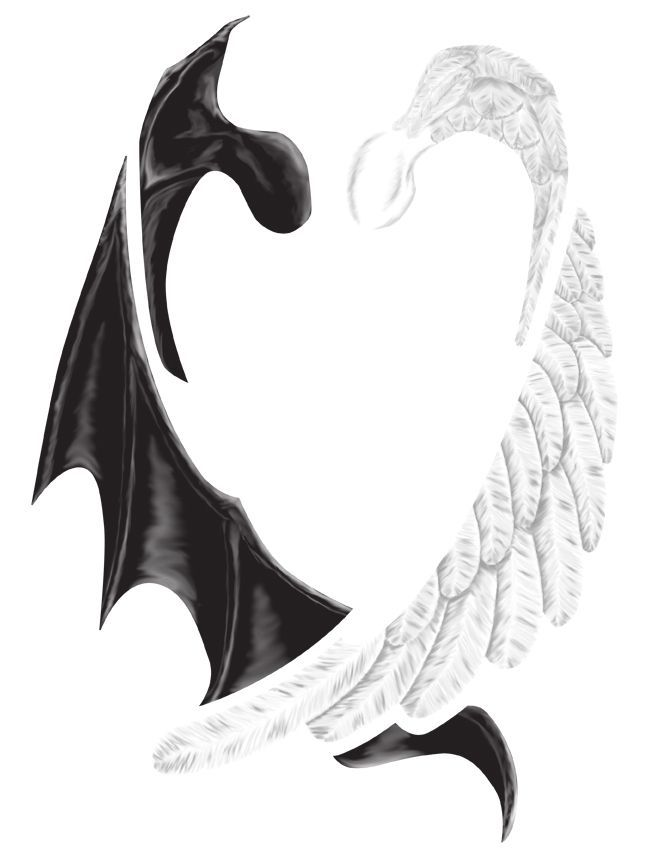 Half Angel Half Devil Tattoo Designs (147)
