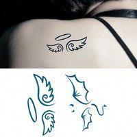Half Angel Half Devil Tattoo Designs (150)