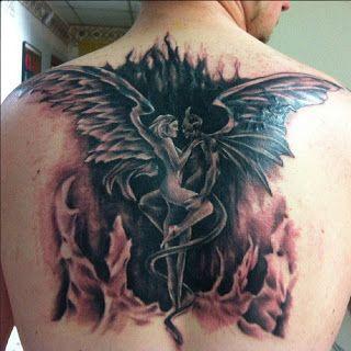 Half Angel Half Devil Tattoo Designs (153)
