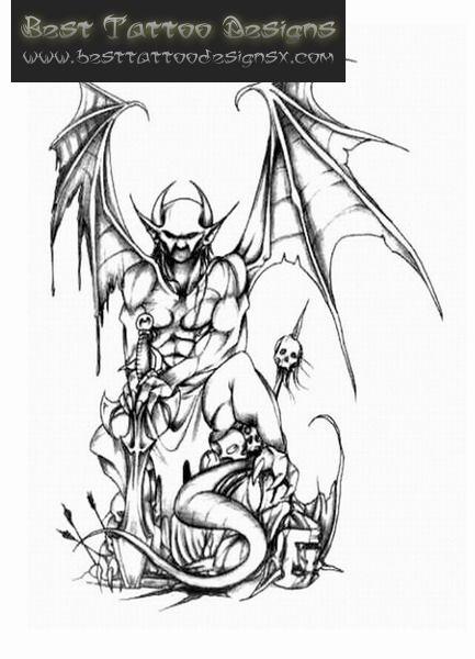 Half Angel Half Devil Tattoo Designs (161)