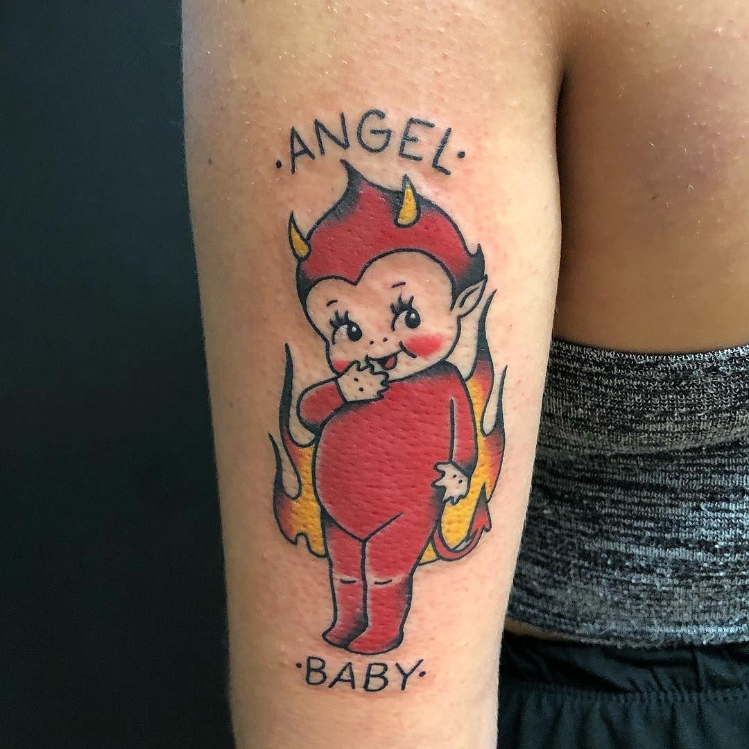 Half Angel Half Devil Tattoo Designs (162)