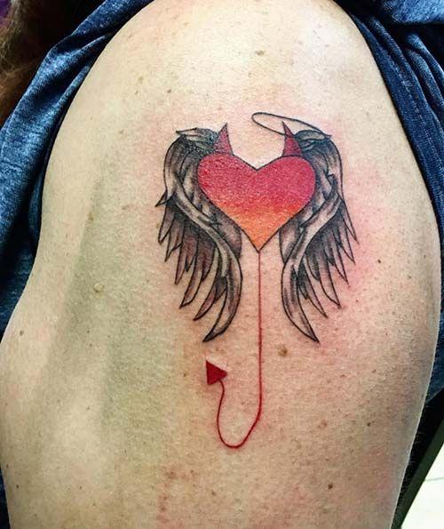 Half Angel Half Devil Tattoo Designs (163)