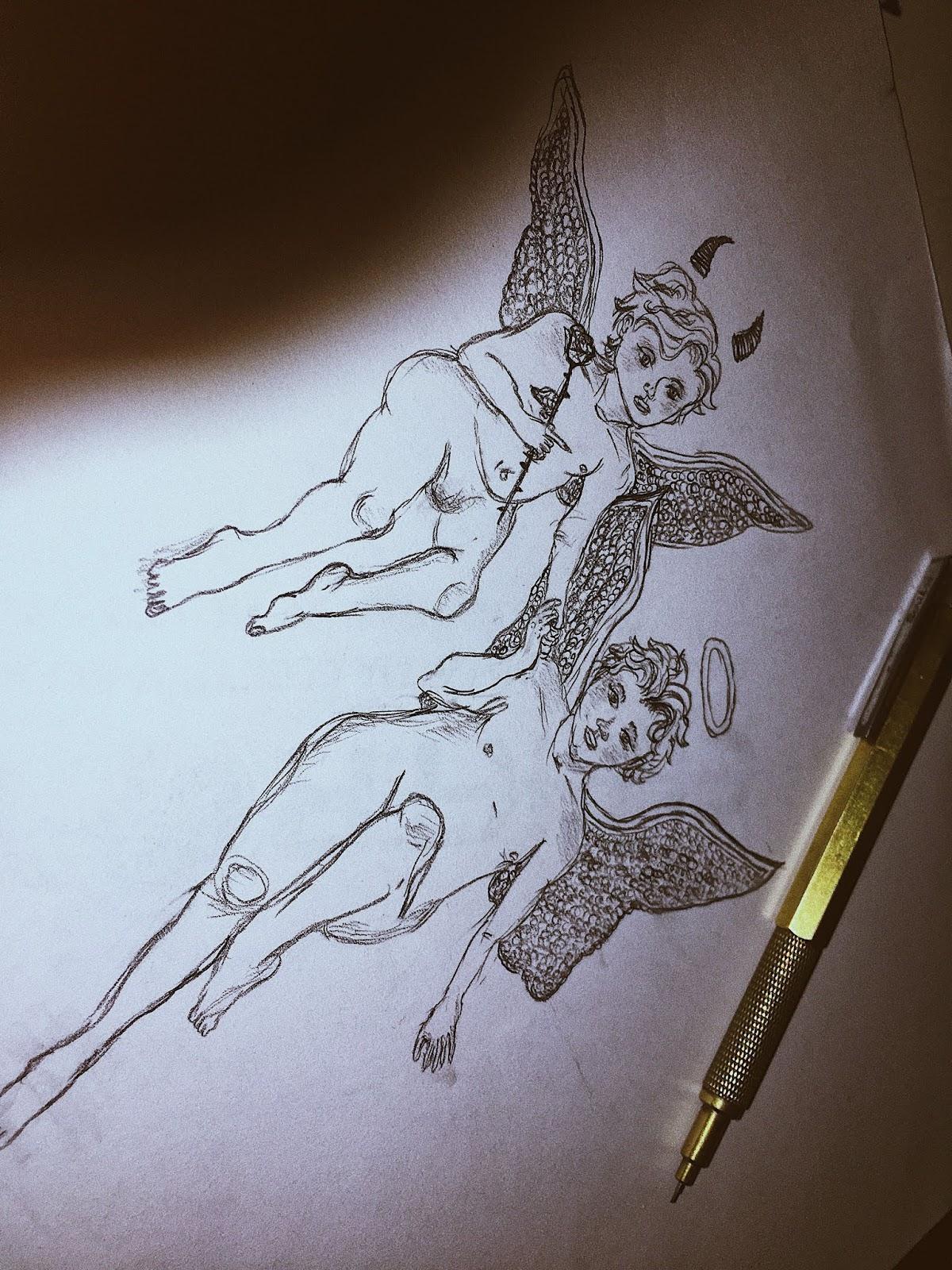 Half Angel Half Devil Tattoo Designs (168)
