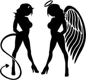 Half Angel Half Devil Tattoo Designs (177)