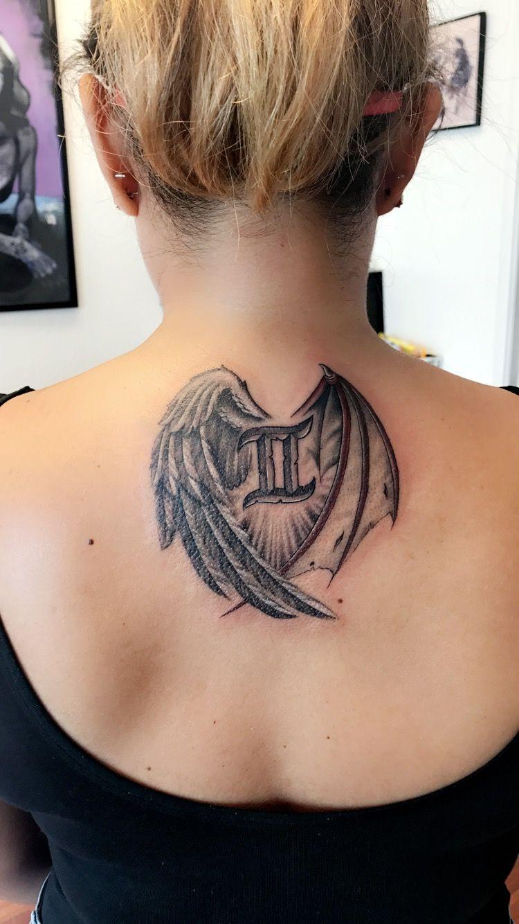 Half Angel Half Devil Tattoo Designs (181)