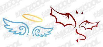 Half Angel Half Devil Tattoo Designs (182)