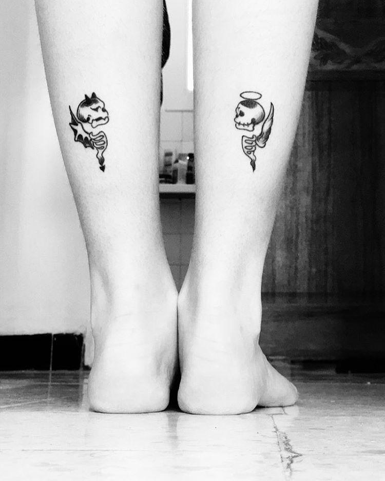 Half Angel Half Devil Tattoo Designs (19)