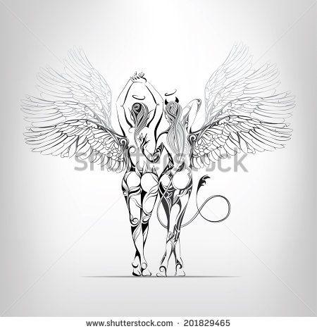 Half Angel Half Devil Tattoo Designs (196)