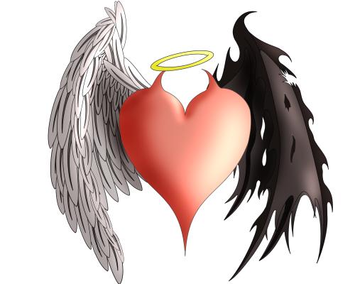 Half Angel Half Devil Tattoo Designs (2)
